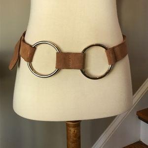 Brave Double Ring Suede Waist Belt